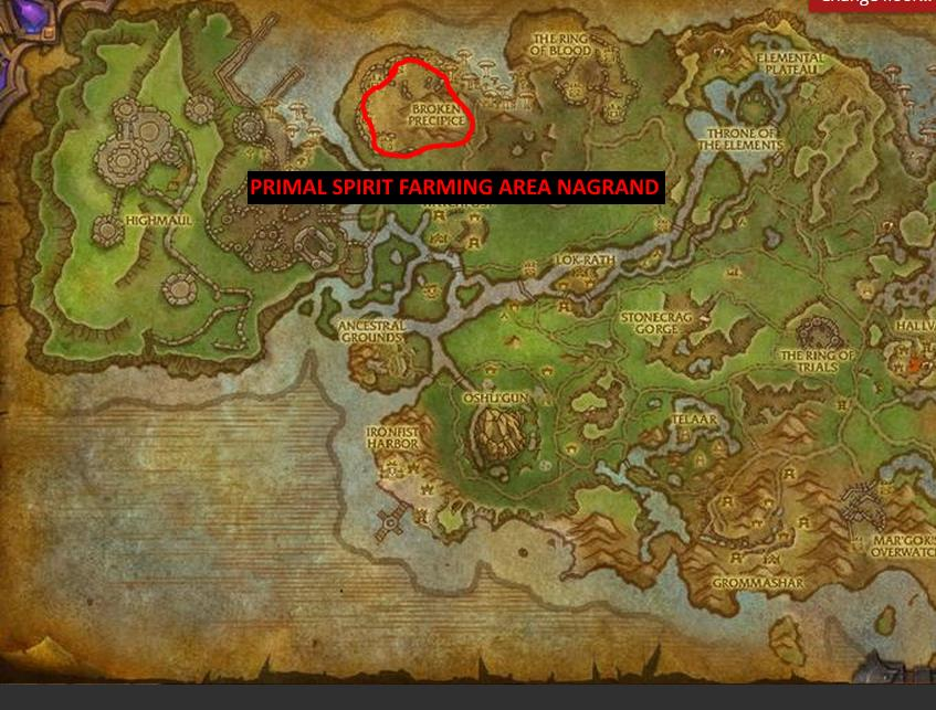 primal spirit farming in nagrand