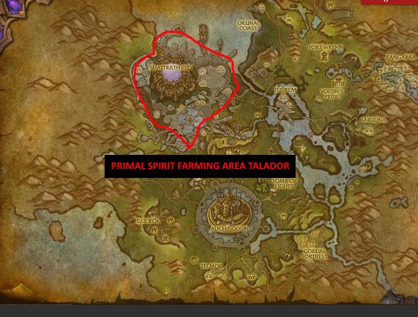 primal spirit farming talador